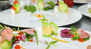 Potiron vert avec du fromage Image stock