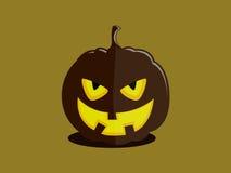 Potiron-voyou mauvais de Halloween illustration stock