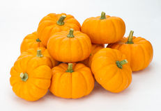 Potirons d'automne empilés pour la décoration Images libres de droits