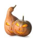 Potirons d'orange de Halloween Image libre de droits