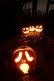 Potirons de cric-o-lanterne de Halloween Photo libre de droits