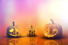 potirons de 3D Halloween Images libres de droits