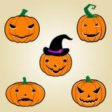 Potirons de Halloween Photo libre de droits