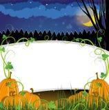 Potirons de Halloween avec des pousses Image stock