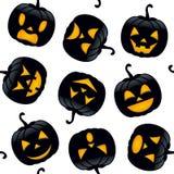 Potirons de noir de Halloween sans couture Images libres de droits