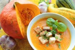 Potirons et soupe à potiron photos stock