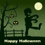 Potirons et zombi effrayants de Halloween Photos libres de droits