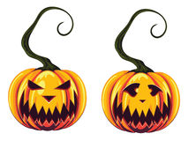 Potirons fantasmagoriques de Halloween Photos stock