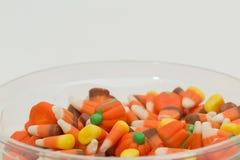 Potirons Halloween de bonbons au maïs Photo libre de droits