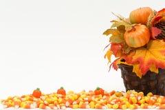 Potirons Halloween de bonbons au maïs Images stock