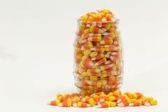 Potirons Halloween de bonbons au maïs Images libres de droits