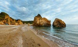 Potistika beach sunrise view (Greece) Stock Image