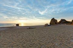 Potistika beach sunrise view (Greece) Stock Images