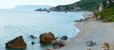 Potistika plaży wschodu słońca widok (Grecja) Zdjęcia Stock