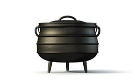Potjiekos Pot Black Stock Images