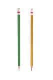 2 potloden die voor achtergrond worden geïsoleerd Stock Foto