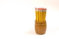 Potloden in een mok Stock Afbeelding