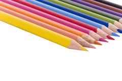 Potloden in een rij Stock Afbeelding