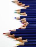 Potloden in een rij Royalty-vrije Stock Afbeeldingen
