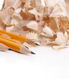 Potloden en het scheren Stock Afbeelding