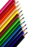 Potloden en kleuren Stock Foto's
