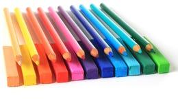 Potloden en pastelkleuren. Royalty-vrije Stock Afbeelding
