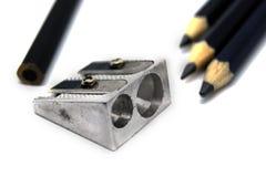 Potloden en Slijper Stock Afbeelding