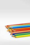 Potloden op de witte achtergrond Royalty-vrije Stock Afbeelding