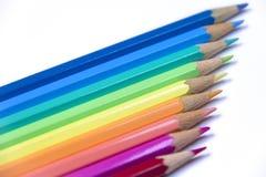 Potloden op een rij Stock Afbeelding