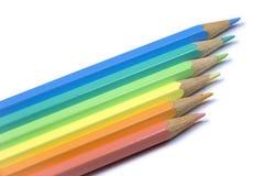 Potloden op een rij Stock Foto's