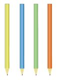 Potloden op een wit stock illustratie