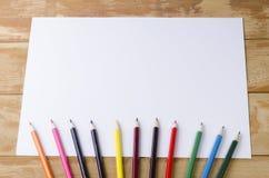 Potloden van verschillende kleur Stock Afbeeldingen
