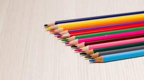 Potloden van verschillende kleuren Royalty-vrije Stock Foto