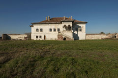 Potlogi Palace of Constantin Brâncoveanu, Dâmboviţa County, Romania - lateral view Stock Photo