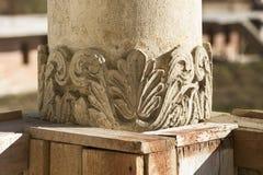 Potlogipaleis van Constantin Brâncoveanu, DâmboviÅ£a-Provincie, Roemenië - de stijl van detailsbrancovan Stock Afbeelding