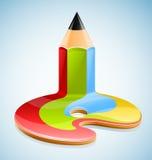 Potlood als symbool van visueel art. Royalty-vrije Stock Afbeeldingen