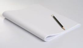 Potlood & document stock afbeelding