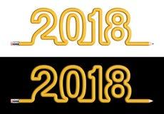 Potlood 2018 concept Stock Afbeelding