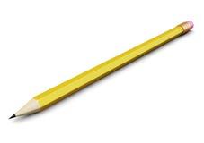 Potlood dat op witte achtergrond wordt geïsoleerde 3d geef image Vector Illustratie