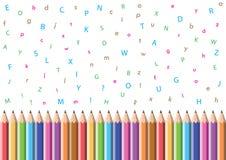 Potlood en alfabet Stock Afbeeldingen