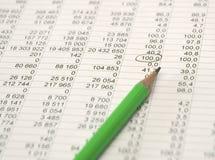 Potlood en cijfers royalty-vrije stock foto