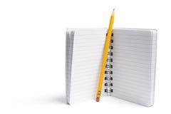Potlood en Notitieboekje stock afbeeldingen