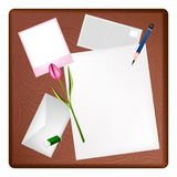 Potlood en Omlijstingbrief stock illustratie