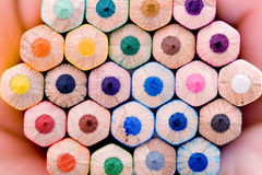 Potlood en pastelkleur stock foto