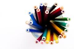 Potlood en pastelkleur Stock Afbeelding
