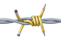 Potlood met weerhaken stock illustratie