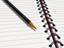 Potlood op notitieboekje vector illustratie