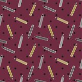 Potloodpatroon op purpere stipachtergrond Stock Afbeelding