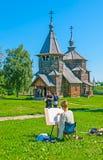 Potloodschets van Suzdal-kerk Royalty-vrije Stock Foto's