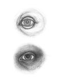 Potloodtekening van oog Royalty-vrije Stock Afbeeldingen